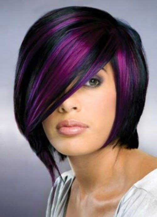 Amazing Stacked With Backswept Finish black-bob-with-wild-