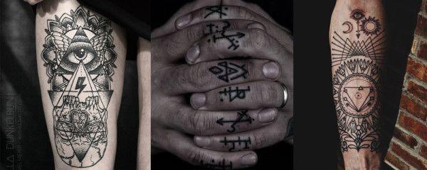 tatuagem de símbolos ocultos 2