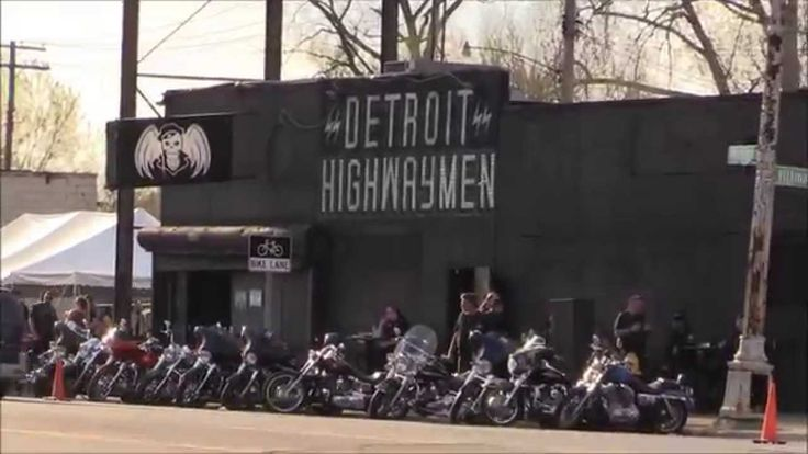 Motorcycle Gang Celebrates Spring In Detroit
