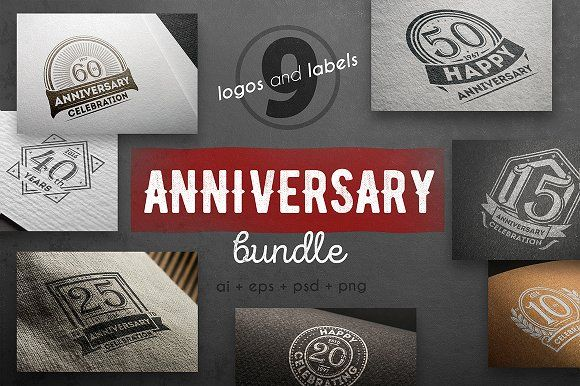 Anniversary logo kit by Alfazet Chronicles on @creativemarket https://crmrkt.com/0pqrkA