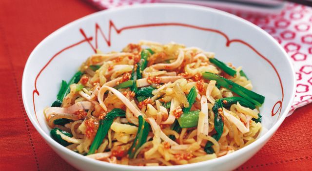 切り干し大根と小松菜の梅肉和えレシピ | ボブとアンジー