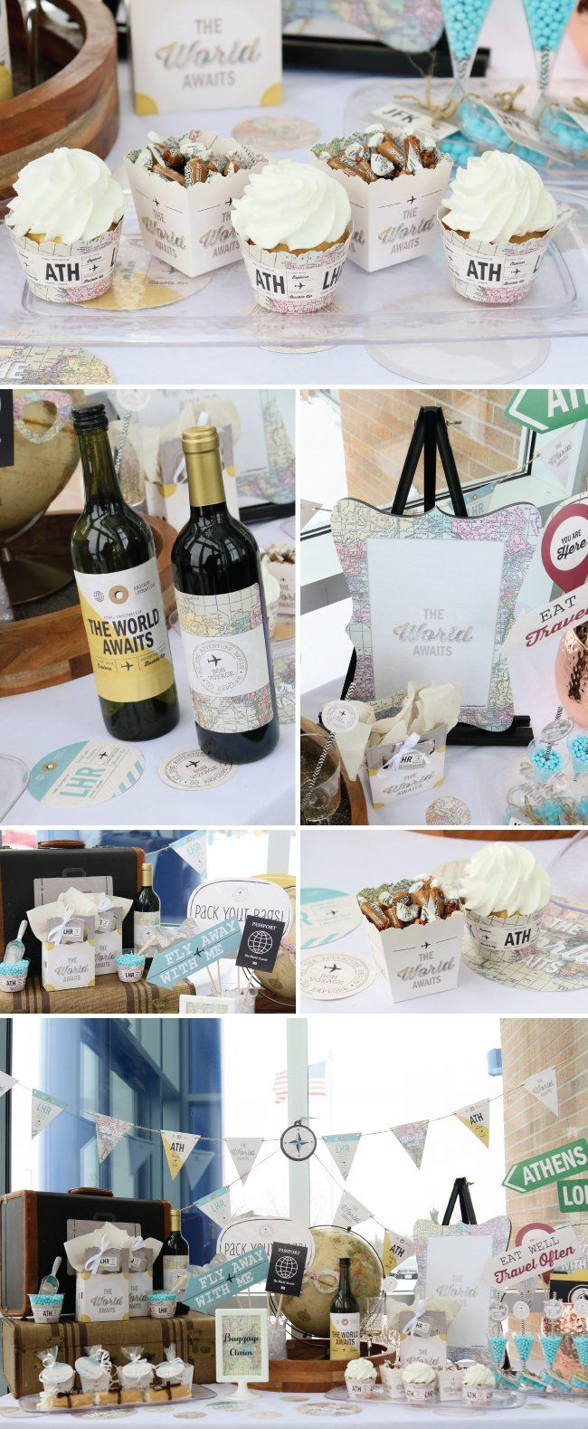 the world awaits vintage travel theme party ideas - perfect for