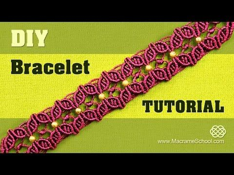 DIY Macramé Flower Petal Bracelet with Beads - YouTube
