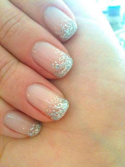 pseudo french manicure
