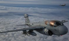 The Aviationist » Stunning images of U.S. Marine Corps EA-6B Prowler jets flying at dusk