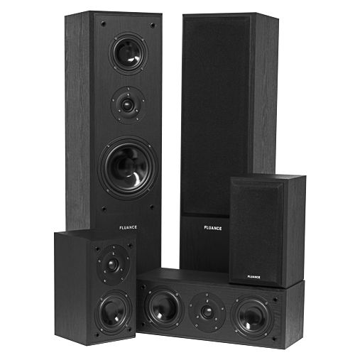Image of Fluance AVHTB Surround Sound Home Theater 5.0 Channel Speaker System