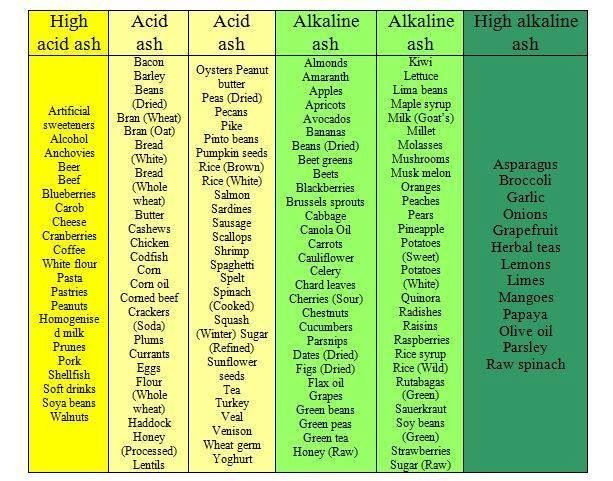 Diet High In Alkaline Producing Foods