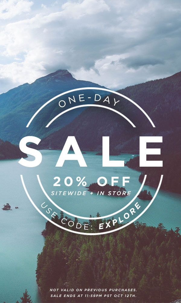 Take 20% off site wide - one day only! // Sale ends 10/12 11:59 PM PST.