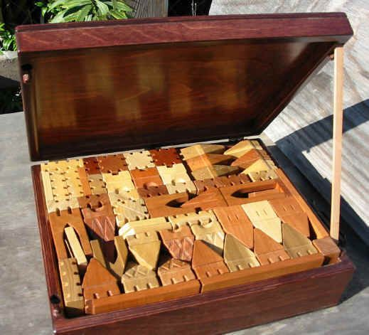 Building Wooden Toys : Quot handmade wooden toy castle building blocks