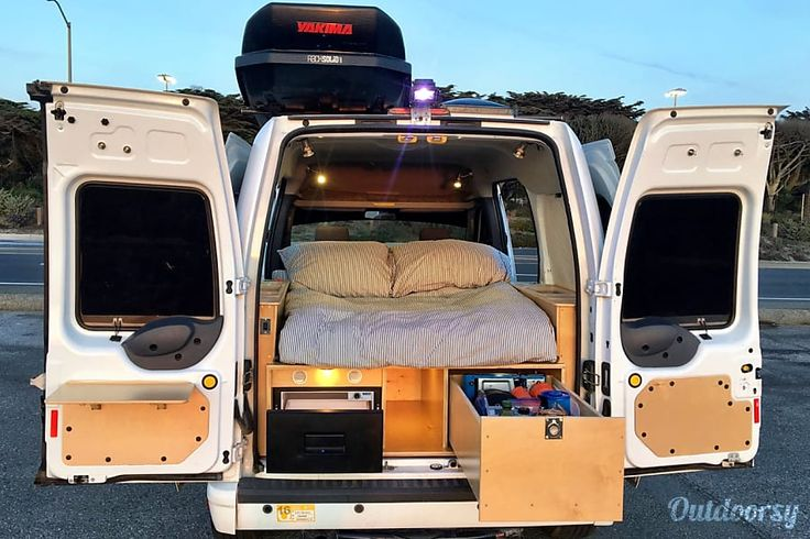 Bodie--2013 Ford Transit Connect San Francisco, CA Comfy bed, great storage, full camping kitchen, oh my!