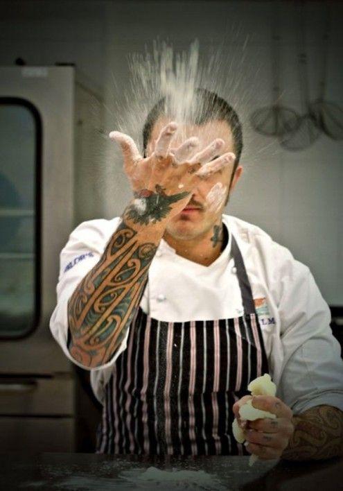 Unto e Bisunto come Chef Rubio / Il giovane Chef Gabriele Rubini, alla guida della Caffetteria Bistrot Chiostro del Bramante