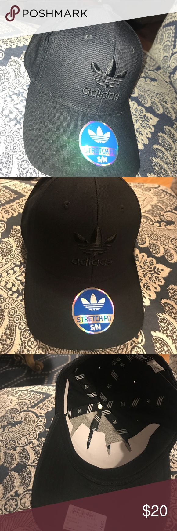 Brand New ADIDAS baseball cap All Black Adidas Baseball cap. Size S/M. Stretch Fit. adidas Accessories Hats
