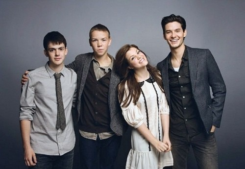 Skandar Keynes, Will Poulter, Georgie Henley  Ben Barnes - Cast of The Chronicles of Narnia: The Voyage of the Dawn Treader (2010)