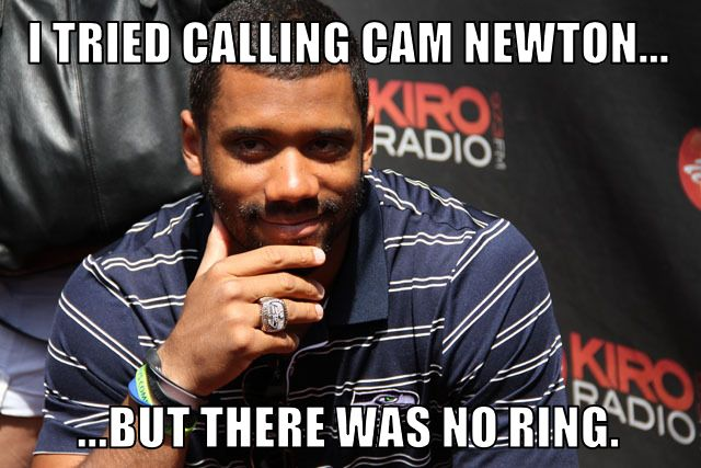 Whose ring is that? Russell Wilson's Ring.