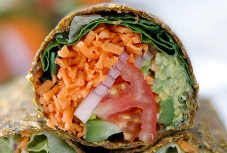 Salad wrap with leftovers