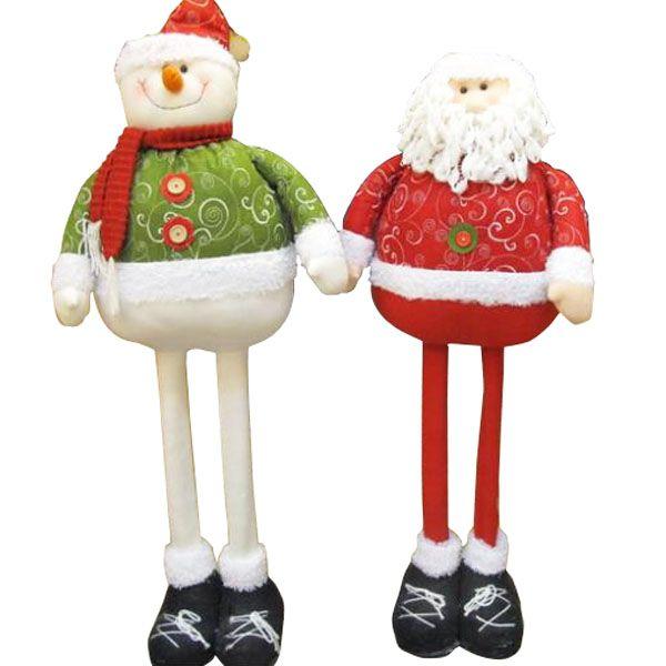 Muñeco de nieve divertido Santa Claus padre telescópicas navidad Navidad para la decoración del regalo