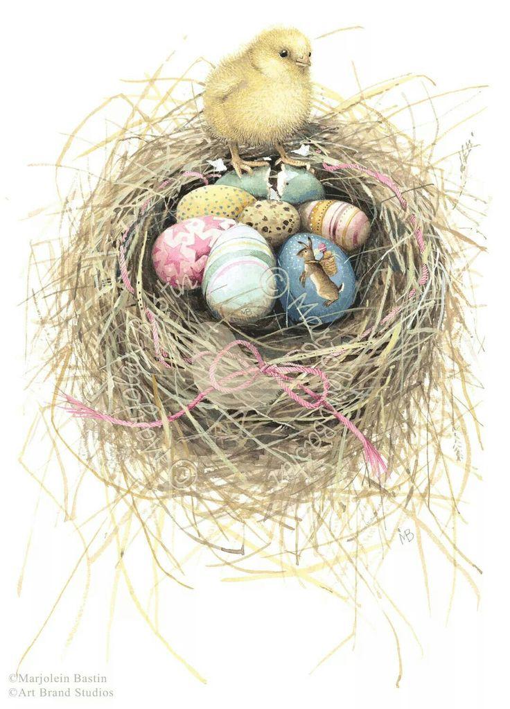 Easter Basket by Marjolein Bastin