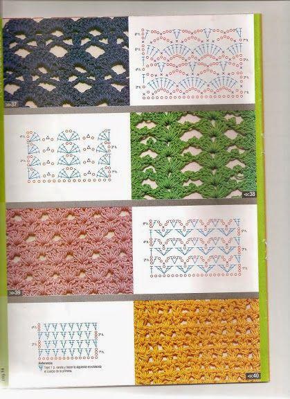 Revistas de manualidades Gratis: Revista Moda Crochet- Guía practica de puntos 1
