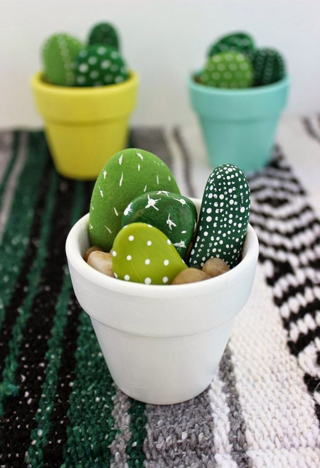 Stone Cactus Pots: 5 easy home crafts you need to try