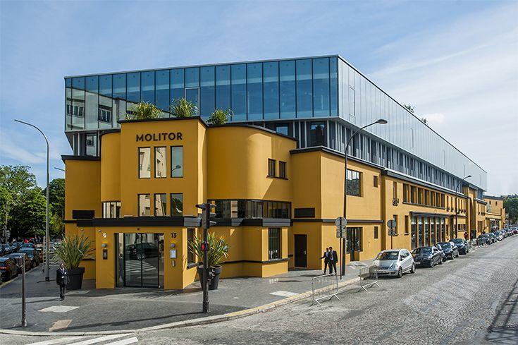 Hôtel Restaurant Molitor - PARIS (75) Architecte : Alain DERBESSE Architectes (75) Entreprise : Sodearif (78) Photo : Bruno Barjhoux Solutions WICONA utilisées : Façades WICTEC 50 SG Droits Réservés WICONA