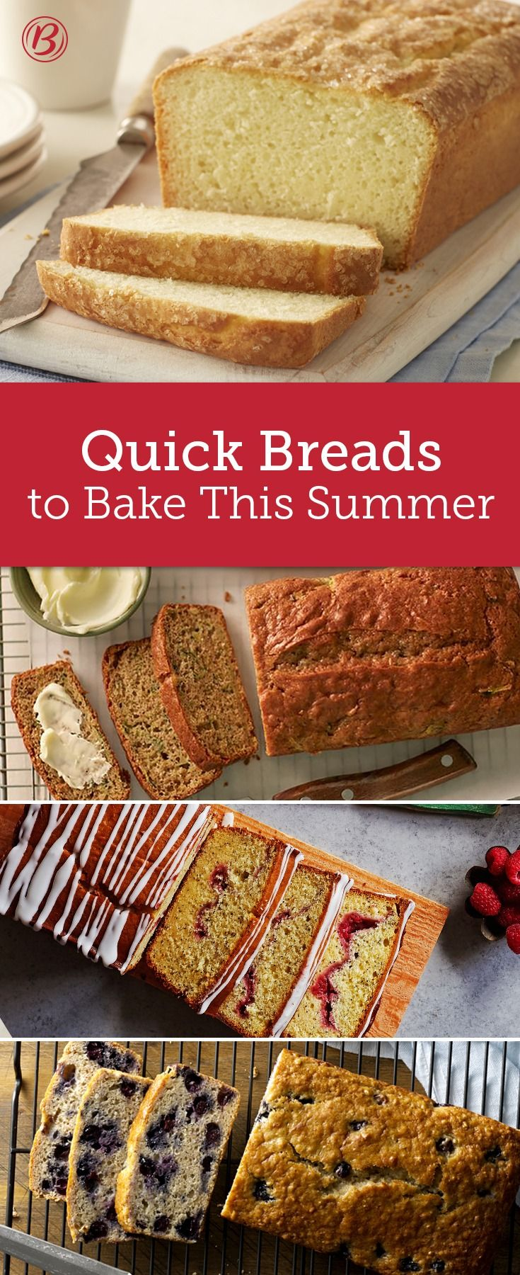 These quick breads are easy to make and packed full of summer's best ingredients. We've got banana blueberry bread and an easy lemon loaf—plus, every quick bread in between!