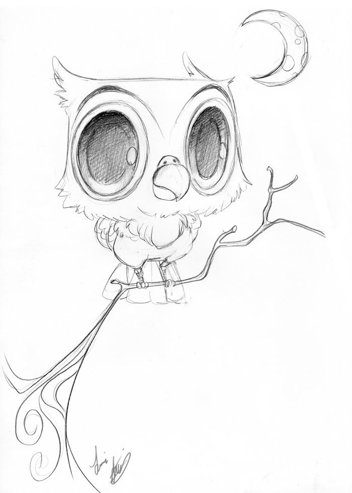 17 best images about owls on pinterest green walls for Cartoon owl sketch