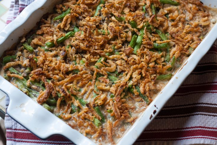 By David Wiesner My family and I eat this dish every year for the holidays. It's one of the recipes that everyone wants and loves. It's green-bean casserole, a classic holiday dish! Ingredients 2 cans (14.5 oz each) Green Giant™ French-style green...