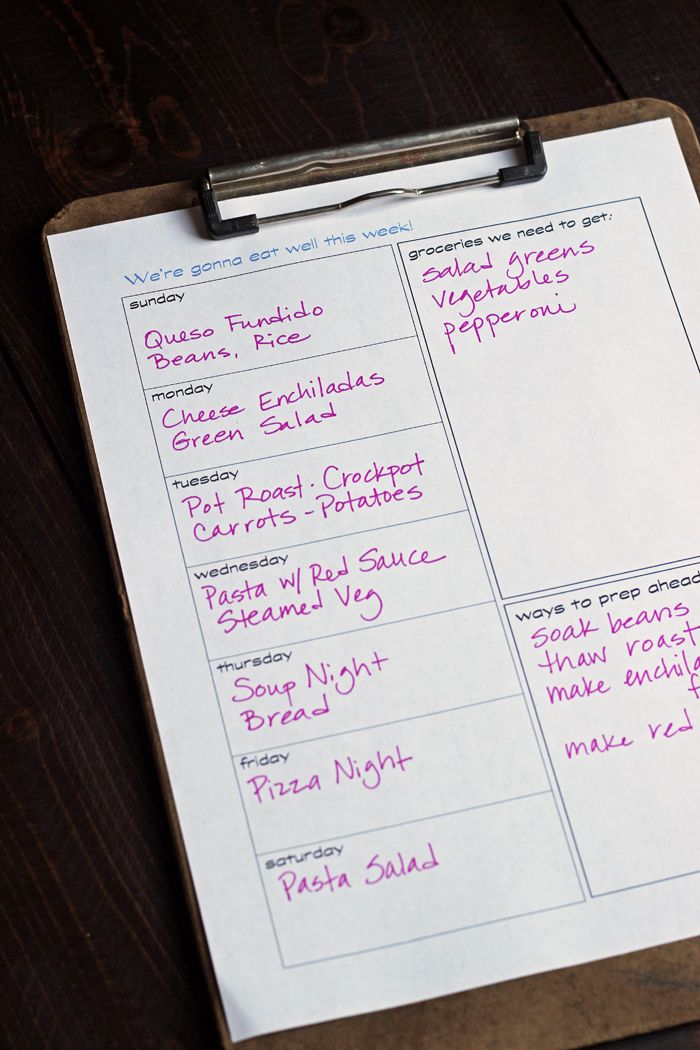 A FREE Printable Meal Planner | Life as Mom - Get organized this week for great meals with a FREE printable meal planner to track meal plans, grocery list, and prep ahead items.