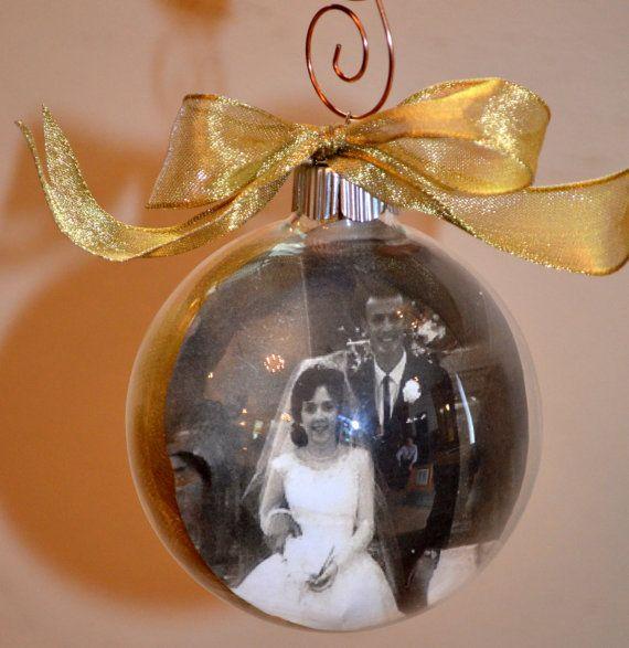 Wedding Anniversary Photo Ornament Keepsake By Paulasbartlion