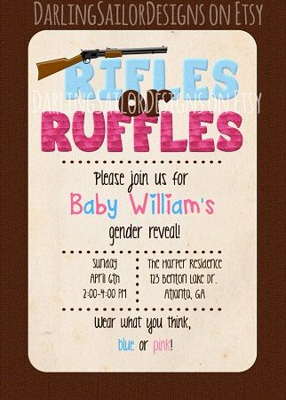 Camo Gender Reveal Party Rifles or by DarlingSailorDesigns