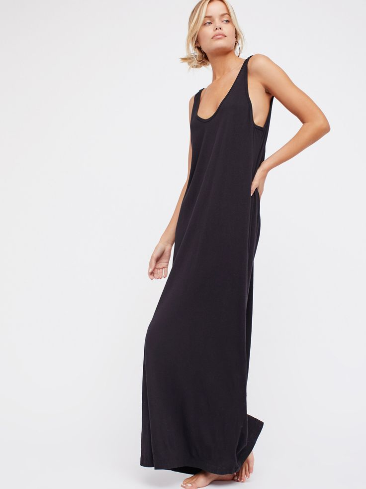 Getaway Maxi Dress | Easy lightweight cotton maxi dress featuring a low scoop back with ruche detailing.    * Semi-sheer   * Throw on top of a bikini or layer over one of our seamless styles for an effortless look