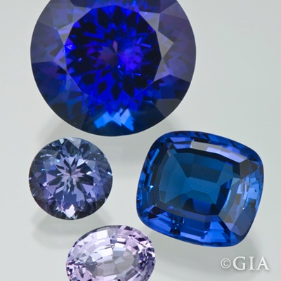 #Tanzanite is known for various hues of blue and violet.