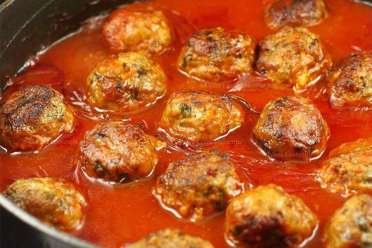 Chiftele marinate, reteta ca la mama. Chiftelute marinate in sos de rosii, reteta. Chiftele marinate, rețetă ca la mama, lista de ingrediente. Chiftele marinate in sos de rosii, la...