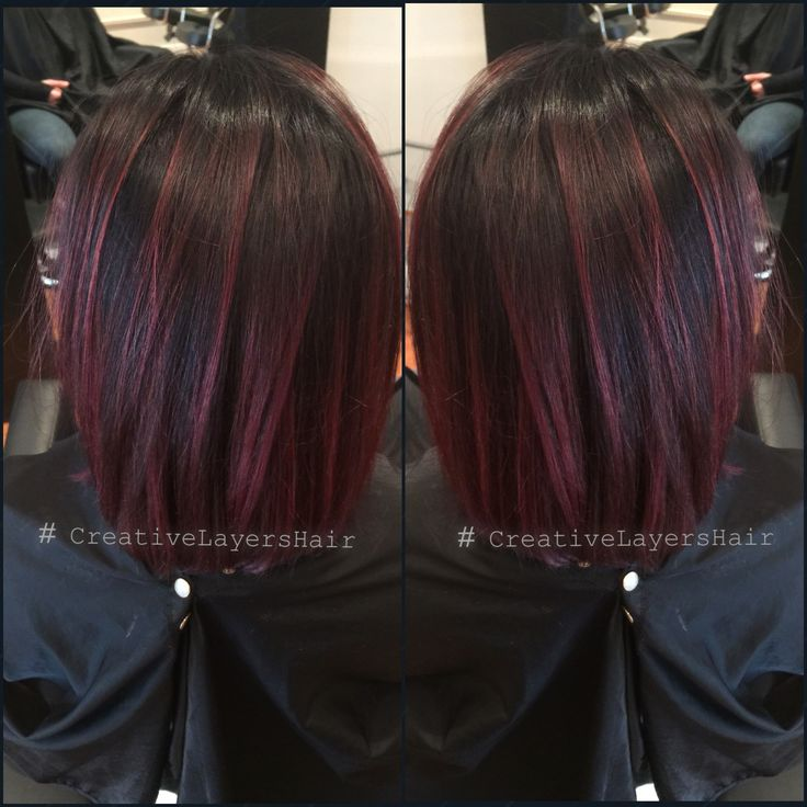 Balayage done Red violet haircolor  CLHairArtStudio.com Charlotte hair salon  Goldwell hair color