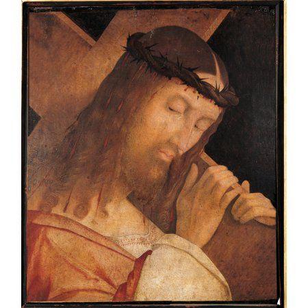 Jesus Christ Bearing The Cross Canvas Art - (18 x 24)