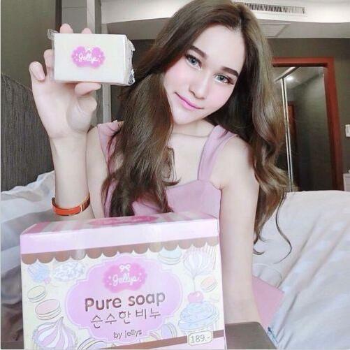 Thailand Pure Soap Whitening Skin Aging Gluta Anti Body Beauty Lightening Jellys White Skin Whitening Soap Anti Dark Spots