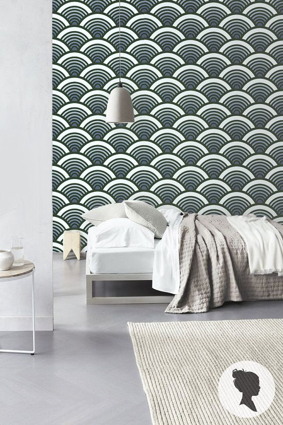 ombre scallop pattern self adhesive vinyl wallpaper by livettes