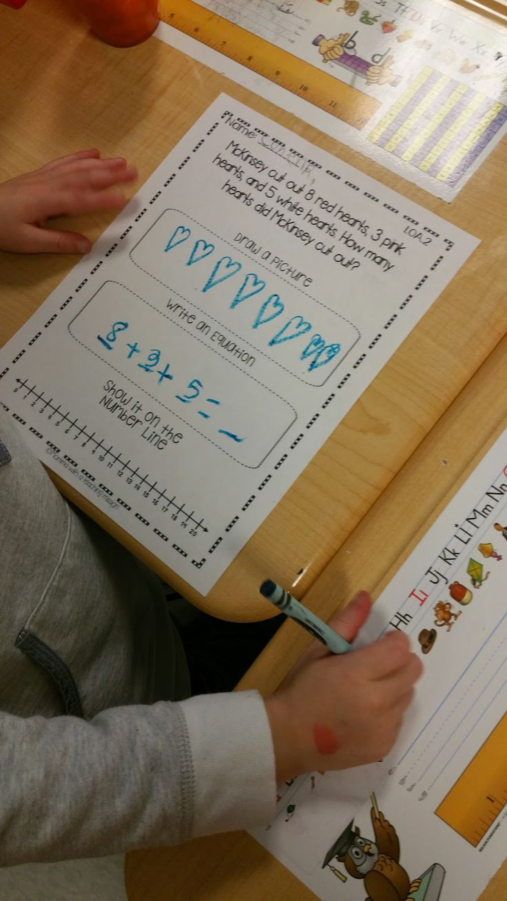 Using pictures number lines and equations to