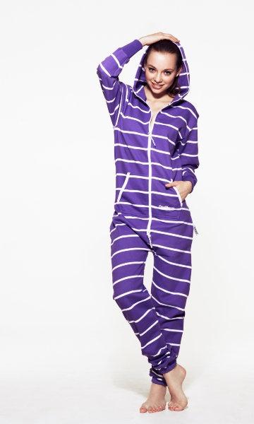 Want!Fashion, Style, Clothing, Onesies Pajamas, Onepiece Stripes, Purple Passion, Stripes Purple'S Whit, Onesies Purple'S Whit, Things