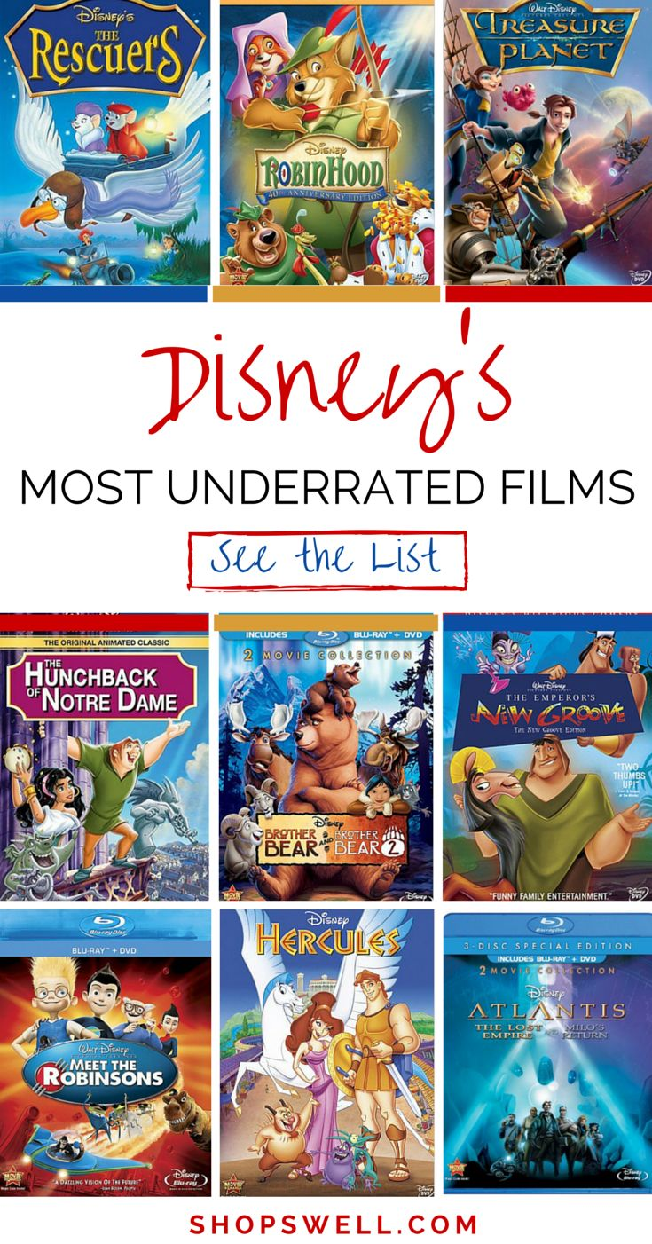 Not everything was Hakunah Matata for these Disney films...but they definitely deserve some praise! All movies on this list are great for the entire family.