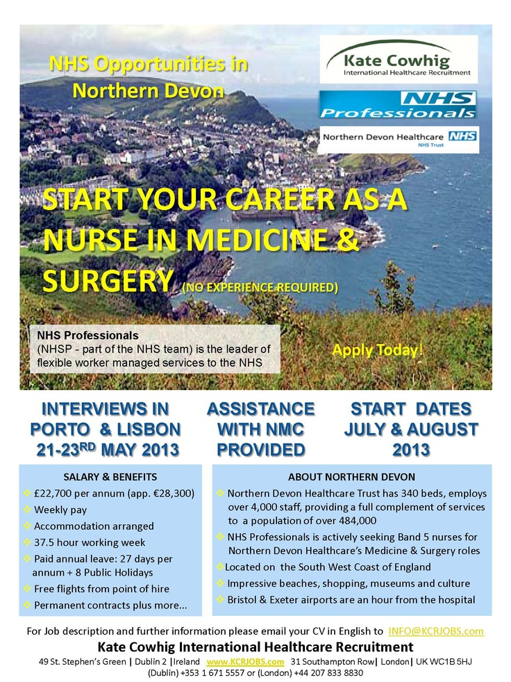 Nursing Jobs in the UK. Please share this opportunity with