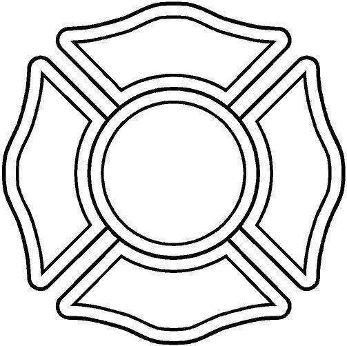 Firefighter Maltese Cross Stencil