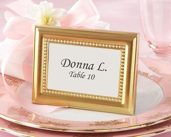 12 best place card holder frames images on Pinterest   Wedding ...