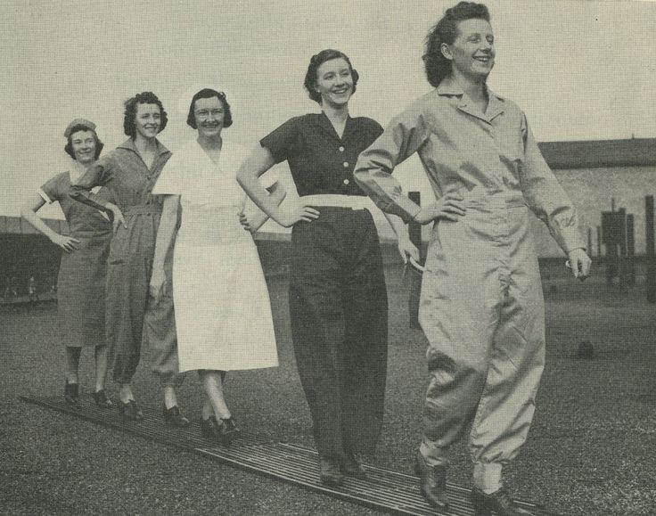 The Well-Dressed Woman in Industry  The Bulletin Safety Clothing for Women in Industry published by the Women's Bureau of the U.S. Department of Labor in 1941 states: Safety clothing is designed for its attractiveness as well as its utility. It has become fashionable to dress and act so that accidents cannot happen. The main rules are: The well-dressed woman in industry is a safe worker. Clothing suitable to the job helps to avoid...