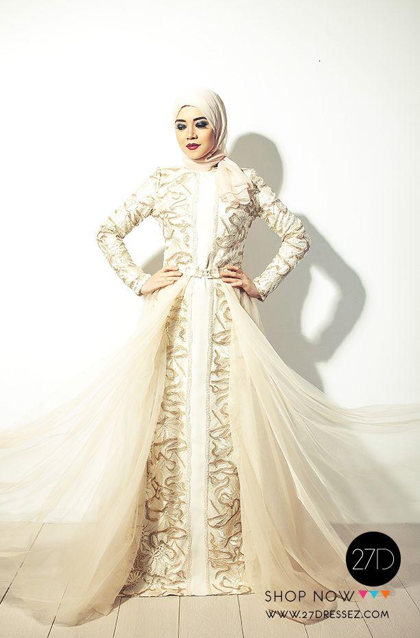 Pinned via #MrsRAwabdeh   Long Sleeved hijab evening dress -27dressez