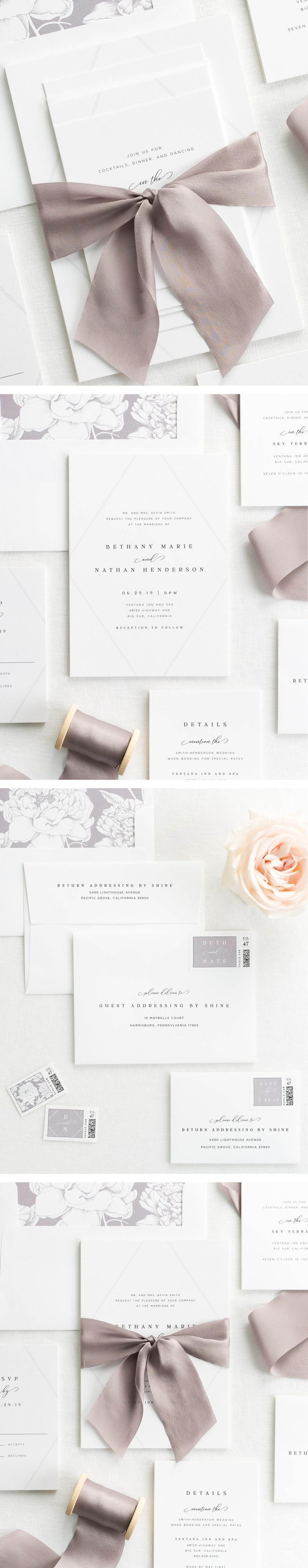 The Bethany wedding invitation collection is perfect for any cool and contemporary wedding. #weddinginvitation
