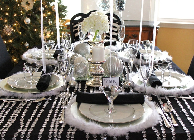 New Year tablescape: Inspiration, Eve Parties, Holidays Decor, Years Tablescapes, Special Events, Events Ideas, Tablescapes T Sets, Christmas Ideas, Christmas Tablescapes