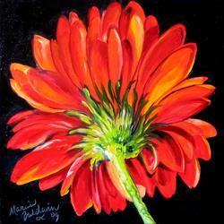 Art: RED DAISY 10 by Artist Marcia Baldwin