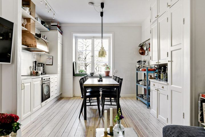 15 Kitchen Ideas With Beautiful Scandinavian Style For Perfection While Cooking H Scandinavian Kitchen Cabinets Scandinavian Kitchen Furniture Scandi Kitchen