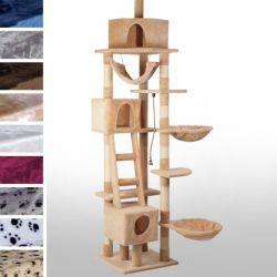 Kissan kiipeilypuu 230-250 cm, 139,95€. Tässä kiipeilypuussa kissasii viihtyy varmasti joko leikkien tai lepäillen. Se tarjoaa monenlaisia eri aktiviteetteja kissallesi. Mukana tulee muun muassa riippukeinu, lepokoreja ja kolme luolaa, jossa kissa voi levätä ja nukkua rauhassa. Puu huolehtii myös kissan kynsien hyvinvoinnista. Ilmainen toimitus! #kiipeilypuu